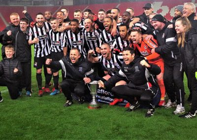 Team celebrate Cup Final Win 2018